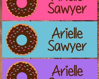 School Label, Waterproof Labels, Waterproof Stickers, Dishwasher Safe, Daycare Labels, School Label, Back to school, Donut School Labels