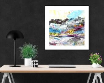 Cornwall Print, Cadgewith Cove, Giclee Print on Paper, Modern Fine Art Print, Cornish Harbour Print, Seaside Art Print, Coastal Print