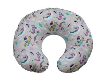 boppy cover, minky boppy cover, mermaid boppy cover, nursing pillow cover, mermaid minky boppy cover