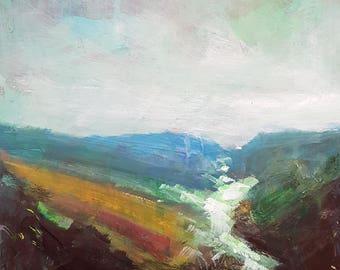 Scottish View 19 ; Original Mixed Media Painting