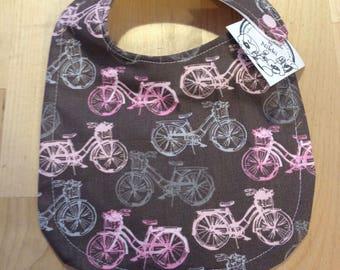 Baby Bib- Pink Bicycle