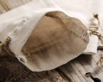 Linen Drawstring Bags (12) * 3 x 4 3/4 * packaging supplies * bridal shower * wedding