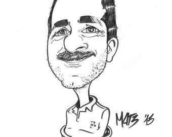 Caricature personalizzate  in formato a3 idea regalo per eventi