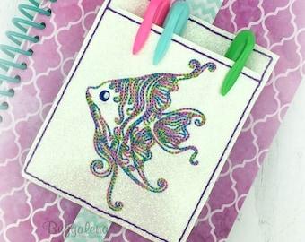 Angelfish Pocket BuggaBand Slider Embroidery Design