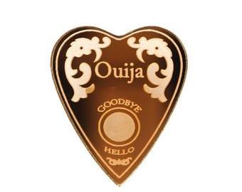 FLASH SALE Gold Mirrored Ouija Planchette Acrylic Brooch Pin
