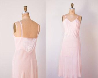 1940s Pale Pink Slip / 40s Lingerie