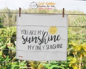 LOVEY * You Are My Sunshine * Organic Cotton Double Gauze * Security Blanket * 16x16,5 inches