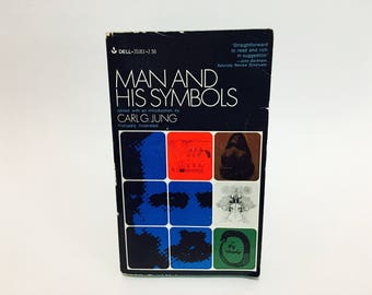 Vintage Psychology Book Man and His Symbols Edited by Carl Jung 1968 Paperback