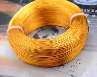 10m wire, Gold Aluminium wire, Artistic Aluminum Craft Wire, Aluminum string, Aluminum thread, jewelry DIY cord, 0.8mm diameter, 10 meters