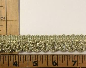 """SALE  105""""  piece Flat decorative trim Vintage faded green item # A3"""