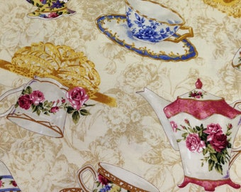 Fabric, 2 Yards Cotton Fabric by RJR Fabrics, Afternoon Tea