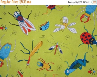 ON SALE SPECIAL--Allover Buzz Print Pure Cotton Fabric from Alexander Henry--One Yard