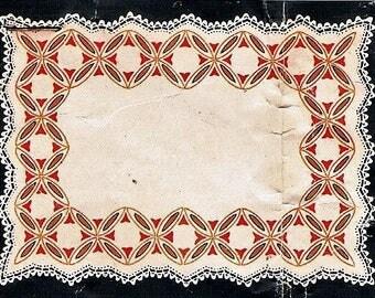 Vintage Traced Linen Cheval Doyley/ Doily/ Doiley/ Doilie Set by Myart Design 1132 - Unworked
