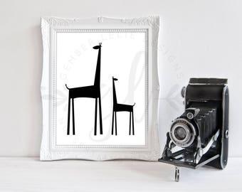 Giraffe | Nursery Art | Wall Art | Nursery Decor | 5x7 | 8x10 | 11x14 (GL000135)