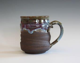 Pottery Coffee Mug, 10 oz, ceramic cup, handthrown mug, stoneware mug, pottery mug, unique coffee mug, ceramics and pottery