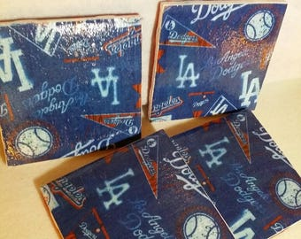 Los Angeles Dodgers Tile Coasters