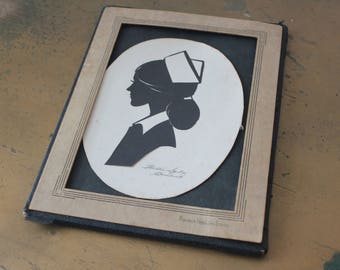 Vintage Wallie Spatz Red Cross Nurse Silhouette Vintage Wallie Spatz Silhouette Vintage Red Cross Nurse Silhouette