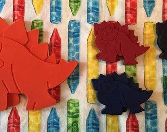 Stegosaurus dinosaur family crayon