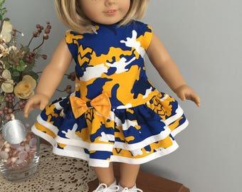 American Girl Doll Clothes - WVU Drop Waist Dress
