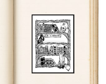 "Ex Libris Book Name Plate Pack of 10 / ""From the Books"" Nameplate - 3 Inch x 4 Inch"