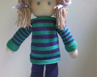 Doll Knitting Pattern  Instant Download