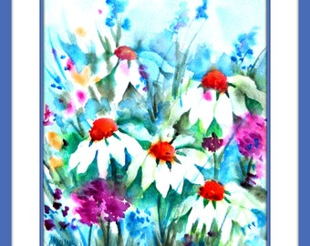 Spring Garden Flowers Daisies by Martha Kisling Art With Heart
