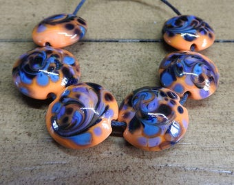 toil and trouble lampwork bead set