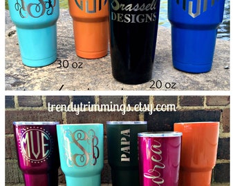 30 oz Ozark Trail- Engraved/Etched Powder Coated Stainless Steel Tumbler Cup- performs like Yeti, RTIC, SIC- monogram, name, logo, custom