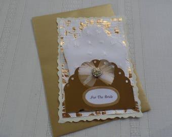 Bridal Hankie, Hankie Card, Wedding Hankie, Bridal Handkerchief, White Embroidered Hankie, Gift Hankie, Bridal Gift