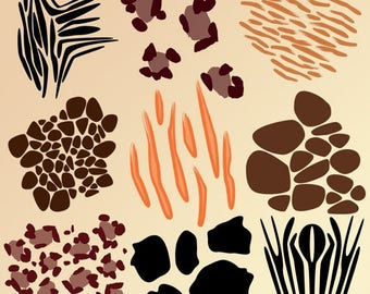 BACK TO SCHOOL Sale Animal Print Photoshop Brushes - Commercial and Personal