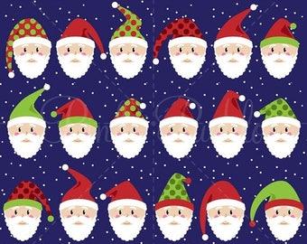 BACK TO SCHOOL Sale Santa Faces Clipart Clip Art, Christmas Clipart, Christmas Clip Art, Santa Claus Clipart Clip Art - Commercial Use