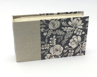 Mini Photo Album, Linen and Floral, holds 36 4x6 photos, In Stock