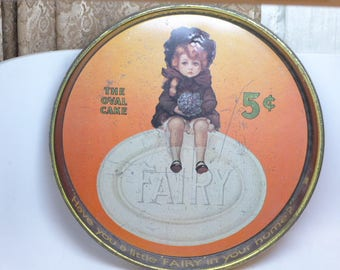 Vintage Fairy Soap Serving Tray - Fairy Soap Advertising Tray - Advertising Tray - Tin Serving Tray