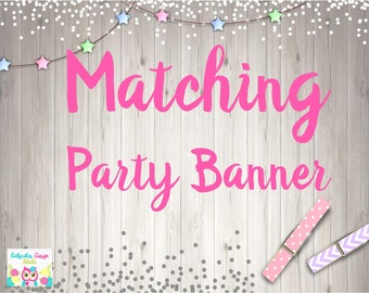 Add PARTY BANNER