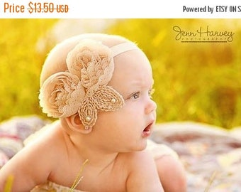 10% SALE Baby headband, newborn headband, adult headband, child headband and photography prop The triple sprinkled- Colleen headband