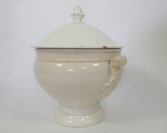 Antique French Porcelain Soup Tureen Fine and Elegant c1850