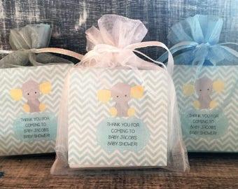 Boy Elephant Soap Favors:  Baby Shower Favors, Birthday Favors, Baby Sprinkle Favors, Elephant Favors, Elephant Shower Favors, Elephant