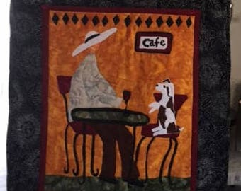 Quilted Italian themed wall hanging - cb