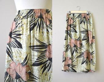 1980s Tropical Batik Skirt