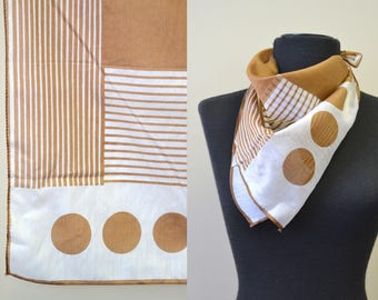 1960s Dots and Lines Scarf