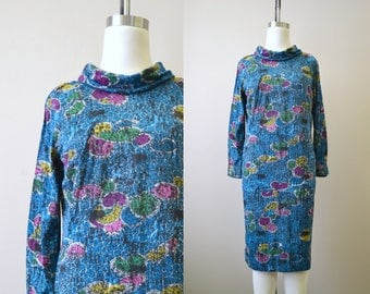 1970s Wilroy Cowl Neck Dress