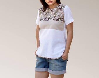 Fancy pure cotton short sleeve T-shirt