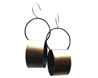 Brass Dynamic Circles Earrings Brass Dynamic Circles Earrings