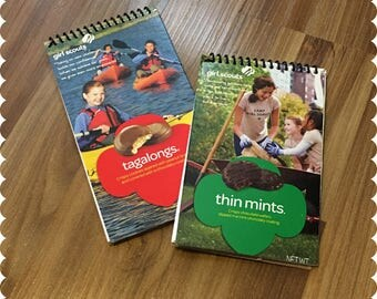 Girl Scout Cookies Notebook, Tagalongs, Thin Mints, Recycled Spiral Bound Notebooks, Cookies, Jotter