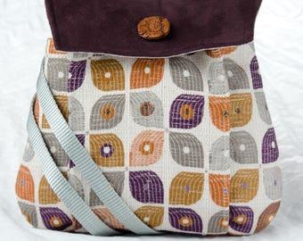 My Perfect Little Purse small cross body purple orange grey bag