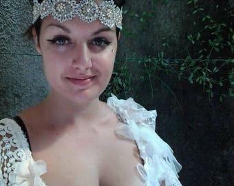 20%OFF wedding bridal vintage photoshoot bohemian beaded head band  FREE SHIPPING ..