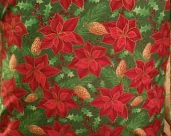 Poinsettia Christmas Pillow Cover 18x18