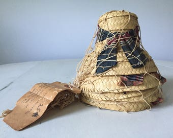 Vintage Handmade Cha Cha Hat Coasters with Original Packaging