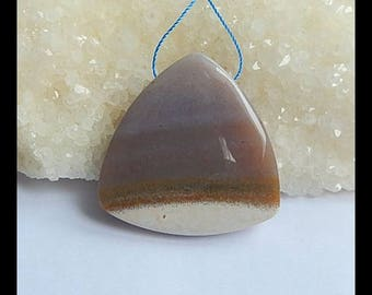 New!! Ocean Jasper Gemstone Pendant Bead,Triangle Pendant,41x10mm,24.6g(h0495)