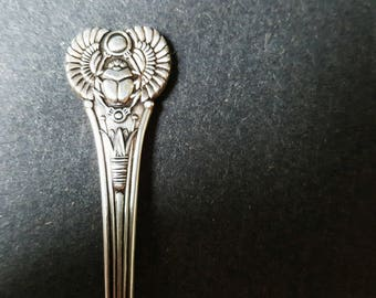Wm. A. Rogers Silver Plated Antique Egyptian Demitasse Spoon